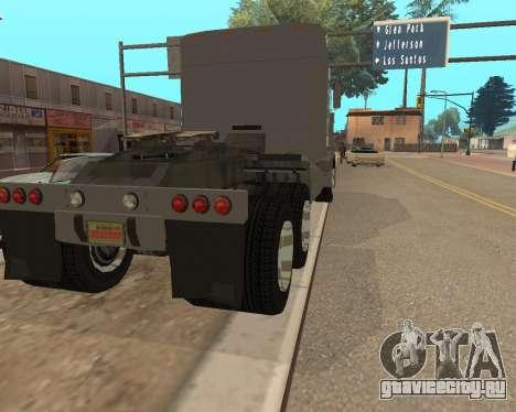 Dude Road Train для GTA San Andreas вид сзади слева