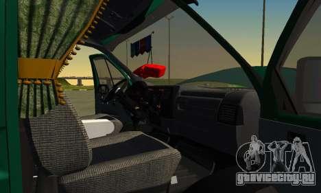Газель Фермер v2 для GTA San Andreas вид сбоку