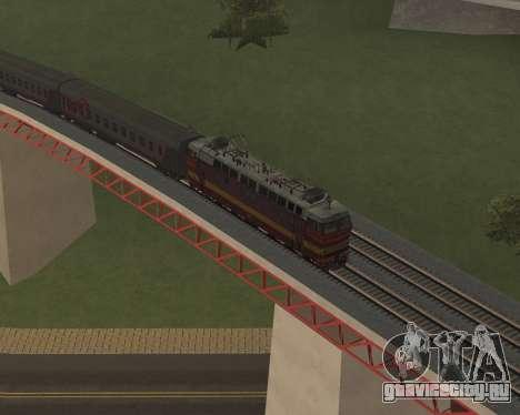 Пассажирский локомотив ЧС4т-521 для GTA San Andreas колёса