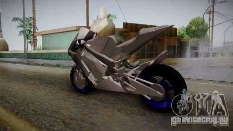 Dark Light Motorcycle для GTA San Andreas вид сзади слева