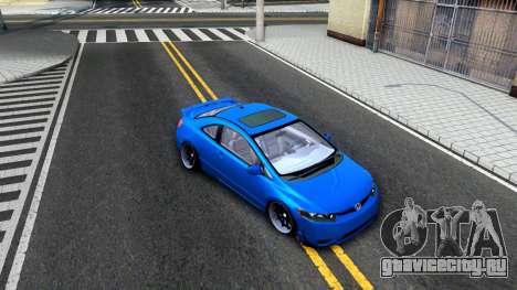 Honda Civic Si для GTA San Andreas вид изнутри