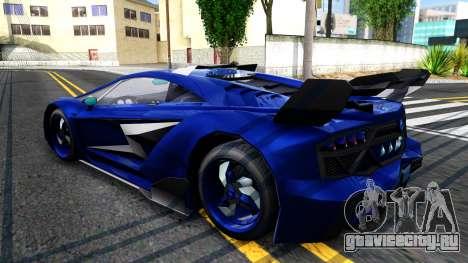 GTA V Pegassi Lampo для GTA San Andreas вид сзади слева