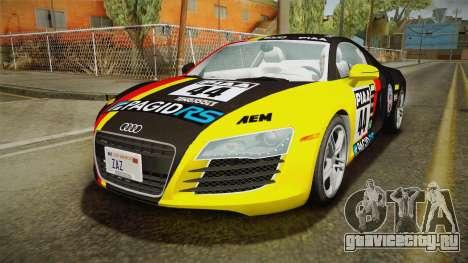 Audi R8 Coupe 4.2 FSI quattro US-Spec v1.0.0 v4 для GTA San Andreas вид снизу
