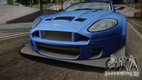 Aston Martin Racing DBRS9 GT3 2006 v1.0.6 для GTA San Andreas вид изнутри