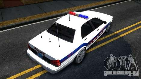 Vapid Stanier Metropolitan Police 2009 для GTA San Andreas вид справа