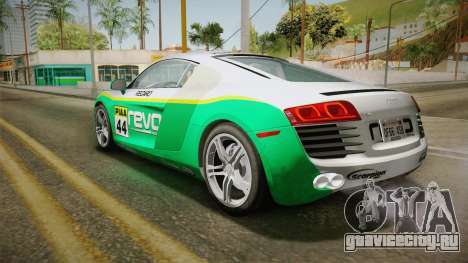 Audi R8 Coupe 4.2 FSI quattro US-Spec v1.0.0 v4 для GTA San Andreas вид сверху
