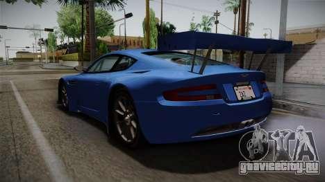 Aston Martin Racing DBRS9 GT3 2006 v1.0.6 для GTA San Andreas вид сзади слева