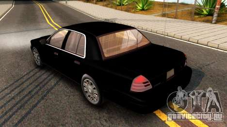 Ford Crown Victoria Detective 2008 для GTA San Andreas вид справа