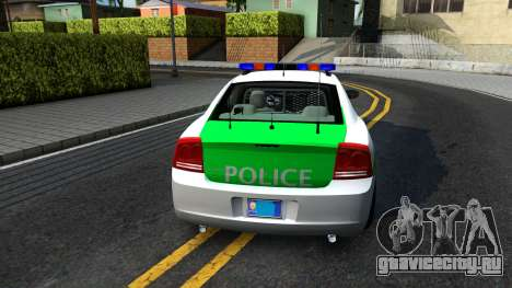 Dodge Charger German Police 2008 для GTA San Andreas вид сзади слева