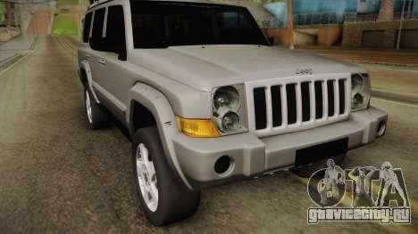 Jeep Commander 2010 для GTA San Andreas вид сзади слева