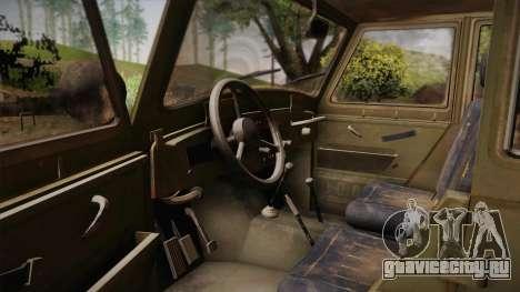 УАЗ-3151 CoD4 MW Remastered для GTA San Andreas вид изнутри