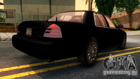Ford Crown Victoria Detective 2008 для GTA San Andreas вид сзади слева
