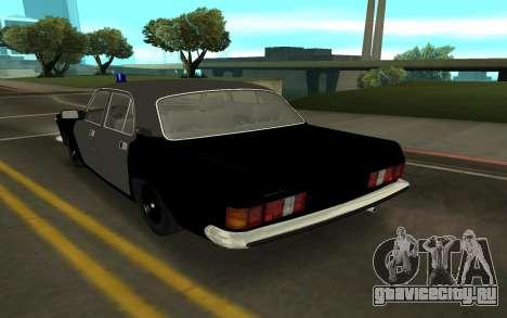 ГАЗ 24-10 Шериф для GTA San Andreas вид сзади слева