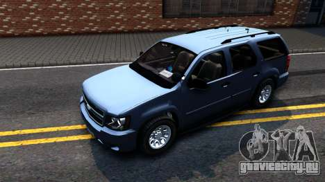 Chevy Tahoe Metro Police Unmarked 2012 для GTA San Andreas вид слева