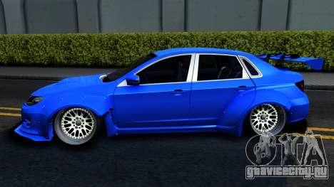 Subaru WRX STi Widebody для GTA San Andreas вид слева