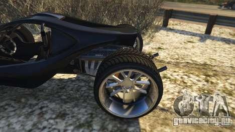 Raptor Car v2 для GTA 5 вид сзади справа