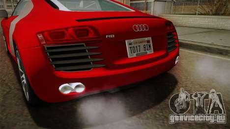 Audi R8 Coupe 4.2 FSI quattro EU-Spec 2008 YCH2 для GTA San Andreas вид снизу