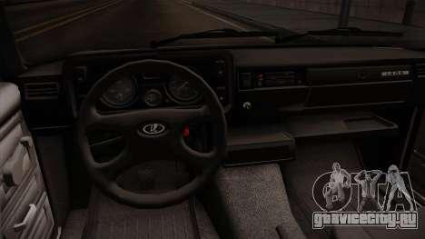 ВАЗ 2105 Кабриолет для GTA San Andreas вид изнутри