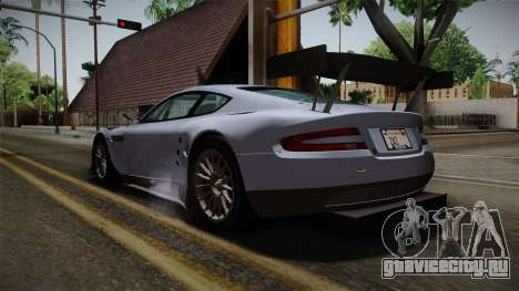 Aston Martin Racing DBR9 2005 v2.0.1 для GTA San Andreas вид сзади слева