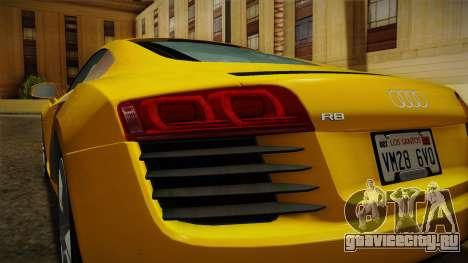 Audi R8 Coupe 4.2 FSI quattro EU-Spec 2008 Dirt для GTA San Andreas вид снизу
