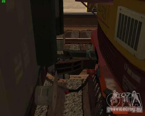 Пассажирский локомотив ЧС4т-521 для GTA San Andreas вид снизу