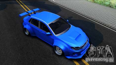 Subaru WRX STi Widebody для GTA San Andreas вид справа