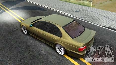 BMW 530D E39 для GTA San Andreas вид сзади