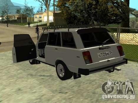 ВАЗ 2104 Красноярск для GTA San Andreas вид сзади слева