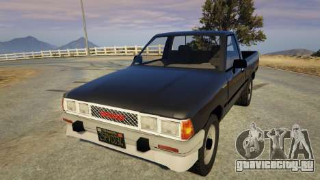 Nissan Datsun 1985 для GTA 5 вид сзади