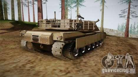 Abrams Tank для GTA San Andreas вид сзади слева