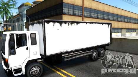DFT-30 Box Truck для GTA San Andreas вид сзади