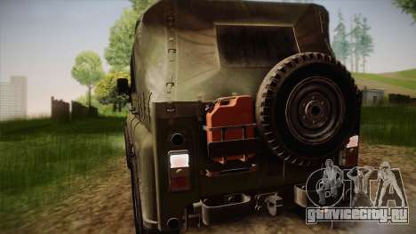 УАЗ-3151 CoD4 MW Remastered для GTA San Andreas вид сзади