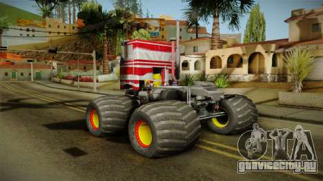 Peterbilt Monster Truck для GTA San Andreas вид справа