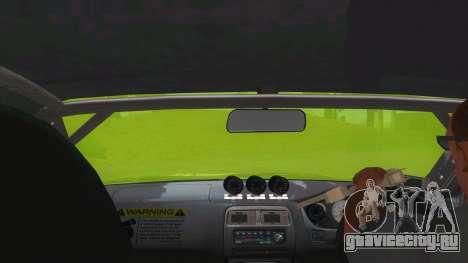 Azuki Azusa Itasha Nissan Silvia Vinyl для GTA San Andreas вид изнутри