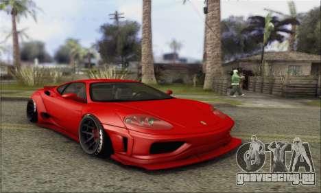 Ferrari 360 LB Work для GTA San Andreas вид сзади