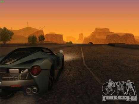 LaFerrari 2017 для GTA San Andreas вид изнутри