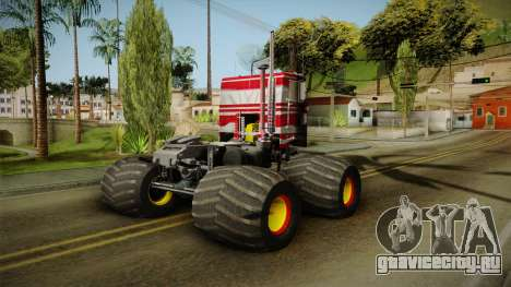 Peterbilt Monster Truck для GTA San Andreas вид слева