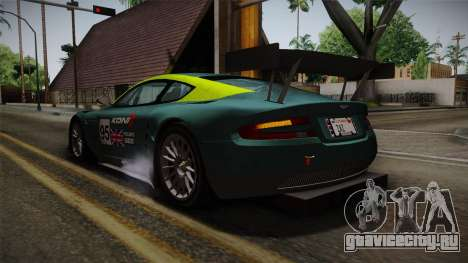 Aston Martin Racing DBRS9 GT3 2006 v1.0.6 для GTA San Andreas двигатель