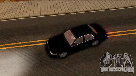 Ford Crown Victoria Detective 2008 для GTA San Andreas вид изнутри