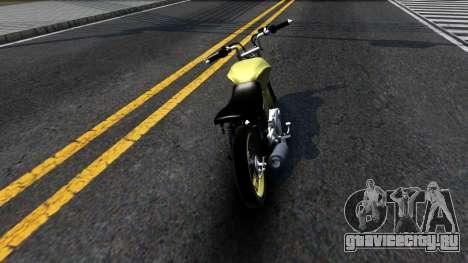 Honda Titan 150 Stunt для GTA San Andreas вид сзади слева