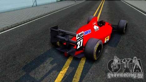 Ferrari 640 F1 1989 для GTA San Andreas вид справа