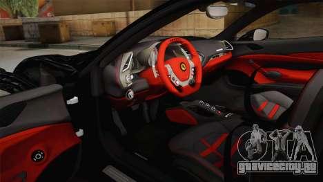 Ferrari 488 GTB для GTA San Andreas вид изнутри