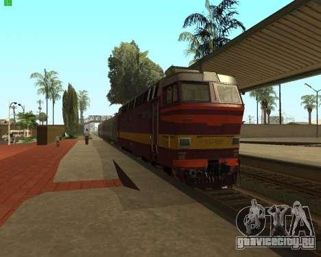 Пассажирский локомотив ЧС4т-521 для GTA San Andreas вид сзади слева