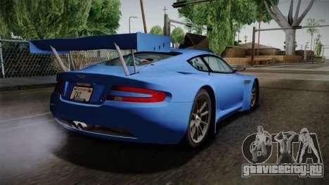 Aston Martin Racing DBRS9 GT3 2006 v1.0.6 для GTA San Andreas вид слева