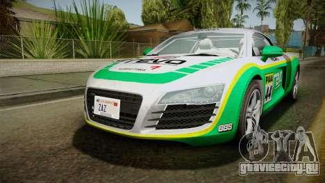 Audi R8 Coupe 4.2 FSI quattro EU-Spec 2008 Dirt для GTA San Andreas двигатель