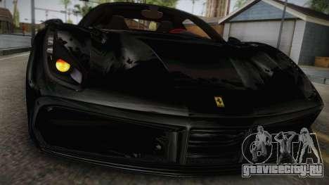 Ferrari 488 GTB для GTA San Andreas вид сзади слева