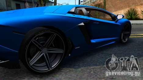 Lamborghini Aventador LP700-4 Light Tune для GTA San Andreas вид слева