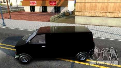 GTA V Declasse Burrito для GTA San Andreas вид слева
