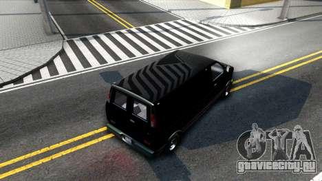 GTA V Declasse Burrito для GTA San Andreas вид изнутри