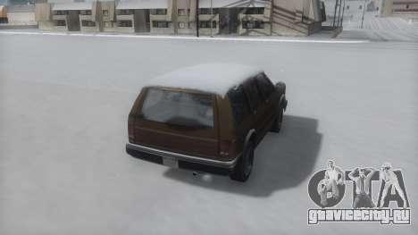 Landstalker Winter IVF для GTA San Andreas вид слева